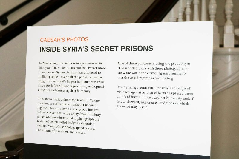Caesar's Photos: Inside Syria's Secret Prisons Exhibit March 8-11 Thumbnail
