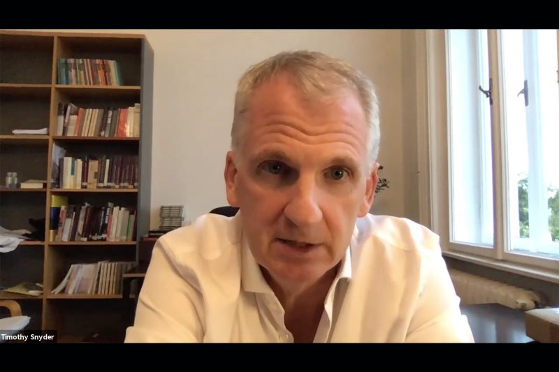 Timothy Snyder shares perspectives on health care, equity and freedom Thumbnail