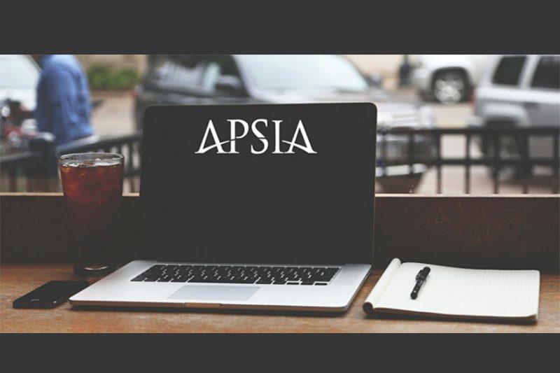 APSIA logo on a laptop screen