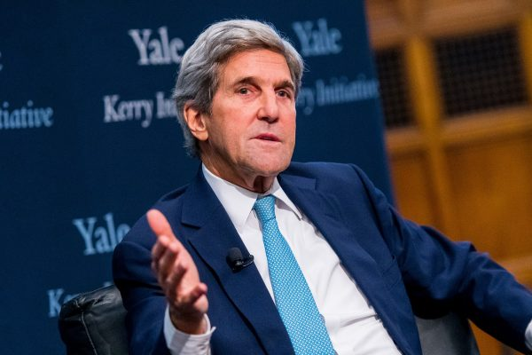 Returning to global stage, Kerry to remain campus presence